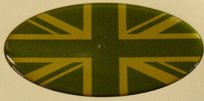 Land Rover Defender Td5  90 110 Oval Union Jack Green And Gold