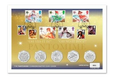 2019 Christmas Pantomime 50p Stamp & Coin Cover Set BUNC  Low Mintage  SOLD OUT