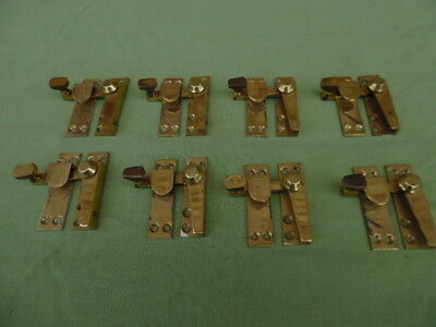 8 Brass Sash Window Locks + Keeps About 20 Years Old