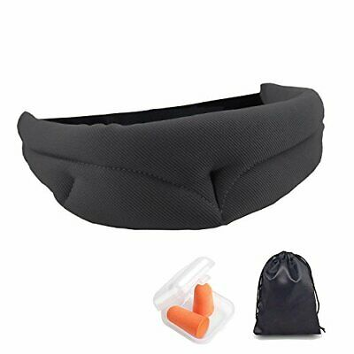 Ailzos Soft and Comfortable Sleep Mask Night Eye Mask Cover for Light (Negro)
