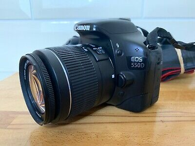 W33 Canon EOS 550D 18.0MP Digital SLR Camera with EF-S 18-55mm Lens - Black