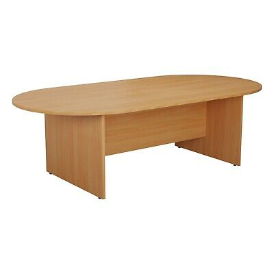 Beech 2 Sizes Tubular Legs RZ Meeting Boardroom Office Table Curved Ends