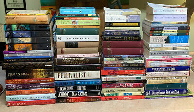 MIXED LOT OF 80 BOOKS - Various Authors and Genres - Used/New/Like New PB & HC