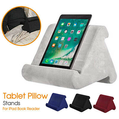 Tablet Pillow Stands For iPad Book Reader Holder Rest Laps Reading Cushion New