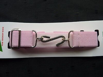 Stretchy Snake Belts/Boys/Girls/Childrens/Kids.. Light Pink ..Adjusts To Fit All