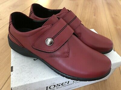 BRAND NEW JOSEF SEIBEL Fabienne 05 ladies shoe with strap-red leather UK 6/39