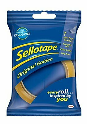Original Golden Sellotape 24mm x 66mm Box Of 12 Individullay Wrapped
