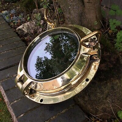 Antique Brass Ships Boat Porthole Marine Nautical Vintage Round Opening Window