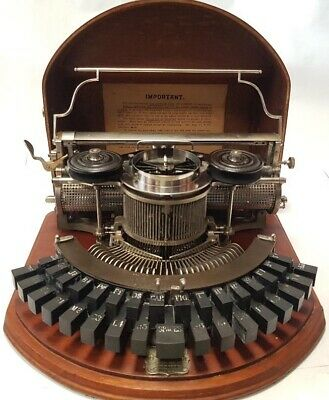 TOP !!! Antigua maquina de escribir HAMMOND 1b  rare typewriter HAMMOND 1B