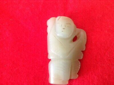 Chinese Qing Dynasty Antique Celadon Jade Toggle