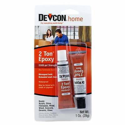Devcon 35345 2 Ton Epoxy Strong Adhesive Waterproof & Clear 28 g (1 oz.)