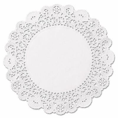 "100 Round White 8"" Paper Lace Doilies - Made in Canada - Disposable Doily"