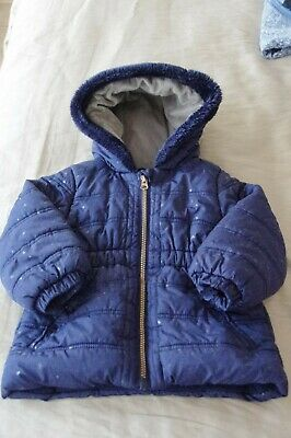 Girl Puff Coat  with little star age 2/3 NUTMEG