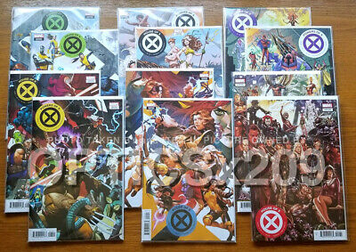 MARVEL X-Men - House & Powers of X 1 2 3 4 5 6 - COMPLETE SET Connecting Variant