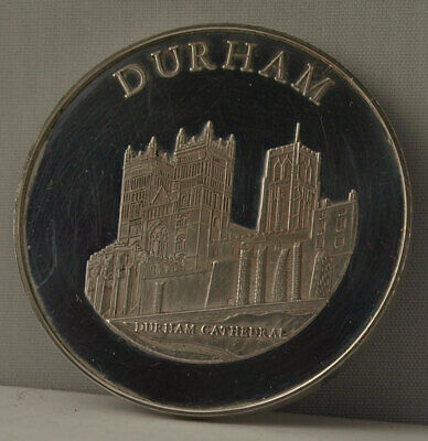 Durham - Large Solid Silver Medal - 41g - Durham Cathedral