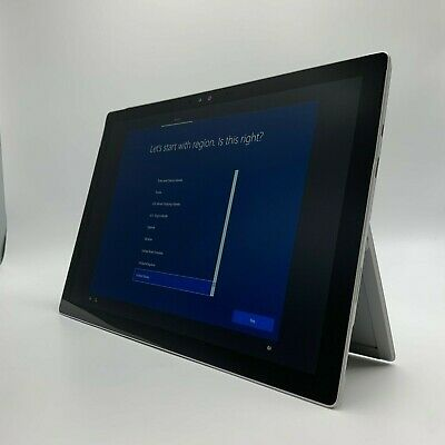 Microsoft Surface Pro 4 Tablet Core i5-6300U @ 2.40GHz 256GB SSD 8GB RAM AS-IS
