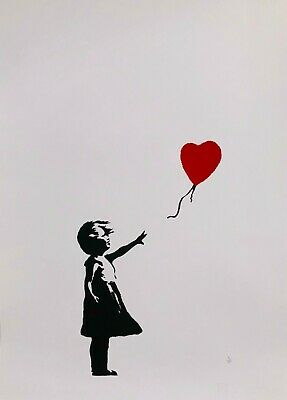 Banksy - screen print (serigraph) Girl with red balloon - DELUXE EDITION