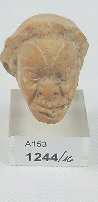 Ancient Hellenistic Greek Terracotta Head  4th - 3rd Century BC Swiss collection