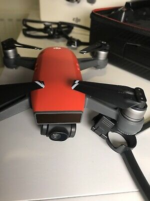 DJI Spark Fly More Combo Camera Drone - Lava Red