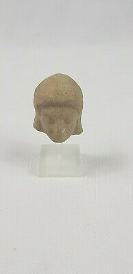 Ancient Hellenistic Greek Terracotta Archaic Male  Head 4th - 3rd century BC