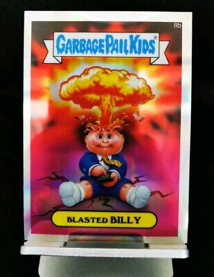 Garbage Pail Kids Chrome Blasted Billy Card number 8b Chrome Checklist REFRACTOR