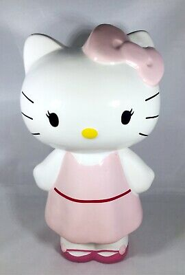 Hello Kitty Ceramic Money Coin Piggy Bank Japanese Anime Pink Sanrio 2012
