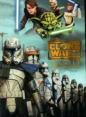 Star Wars The Clone Wars Seasons 1-5 Collectors Edition 19 DVD Box Set New  USA