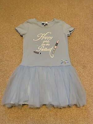 S&D Le Chic Blue Happy Girls Are The Prettiest Tutu Dress Age 5-6 Years 116cm