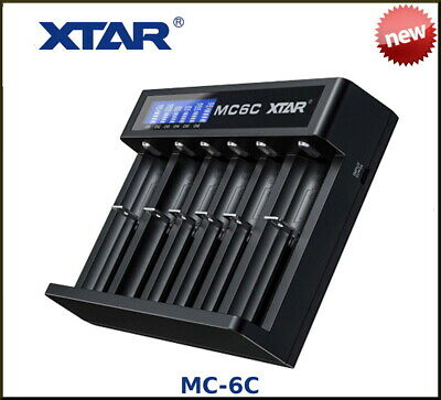 AUTHENTIC XTAR MC6c USB Battery Charger - UK STOCK