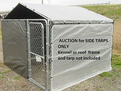Dog kennel cover, winter bundle for 10 x 10 kennel with 100 ball bungees