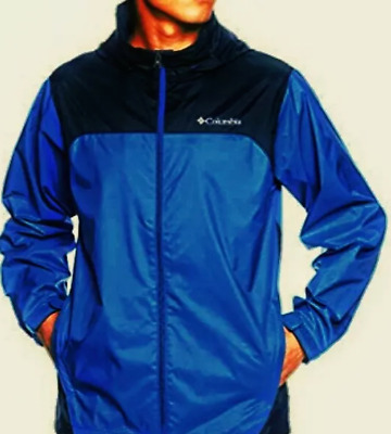 Men's XL blue, navy Columbia Glennaker Lake waterproof rain jacket MSRP $60 NWT