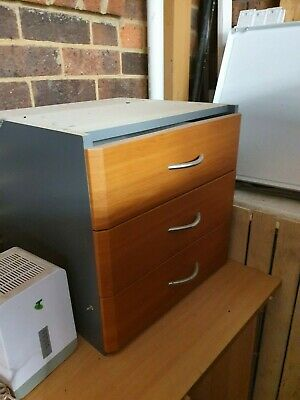 Used Office Storage Cabinet Filing Cupboard Cherry Wooden Shelve furniture desk
