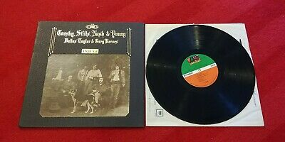 Crosby Stills Nash Young DEJA VU Lp 1st Pressing, VG+/EX, SD 7200 texture cover