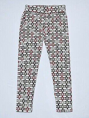 "Jelly The Pug ""Holiday Collection"" Reds & Greens Holiday Print Leggings, 8"