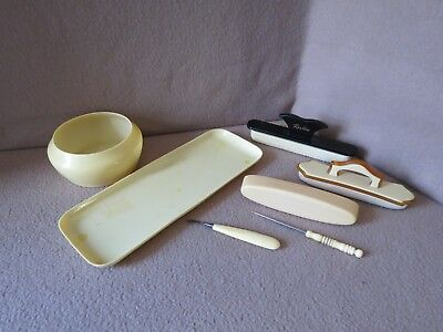 "(6) Piece ""EARLY - MID 20th CENTURY ~ IVORY CELLULOID ~ MANICURE TOOL"" Lot: NICE"