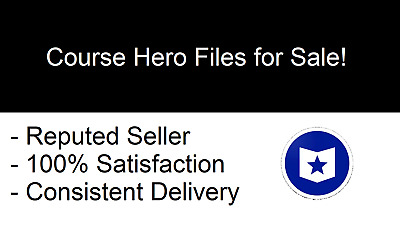 Files for 5 Course Hero Account Unlocks - INSTANT DELIVERY - 24/7