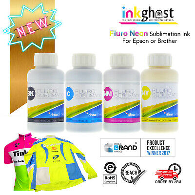 Neon Fluro sublimation Ink alternative for Epson Printer dye sub heat transfer