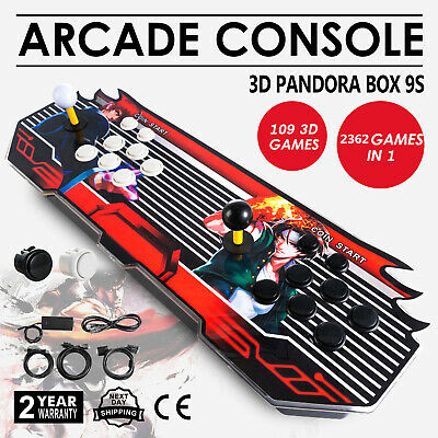 NEW 2362 IN 1 7S Home Arcade Console Pandora Box 3D & 2D Games USB VGA HDMI