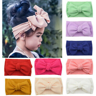 Kids Newborn Baby Girls Toddler Bow Knot Hair Band Bowknot Headband Headwrap UK
