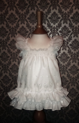 ALL Sizes £35 Adult Baby ABDL Sissy Short Dress Top in White Broderie Anglais