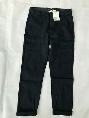 H&M Boy's Skinny Fit Chinos Trousers Dark Blue - SIZE 10-11 Years (146cm)