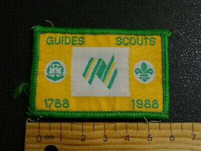 1 x GUIDES SCOUTS BICENTENIAL 1788-1988  AUSTRALIA COLLECTABLE PATCH.