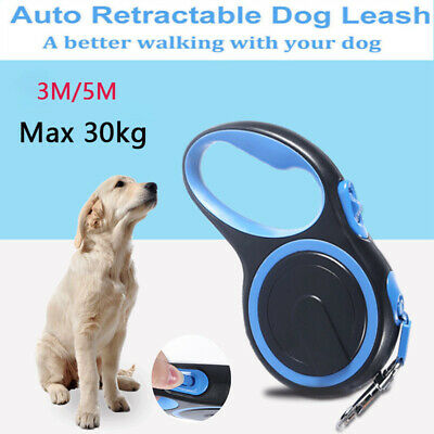 Heavy Duty Large Dog Puppy Extendable Retractable Lead Set 8M Up To 50KG Dogs