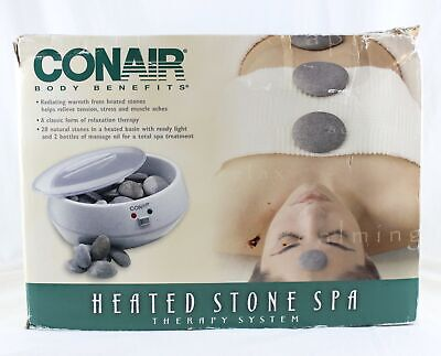 Conair Body Benefits Heated Stone Spa Hot Rocks Therapy Kit HR10 NEW OPEN BOX