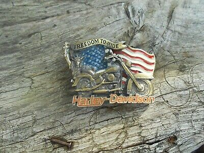 Superbe boucle Harley Davidson motor cycles official 1991 baron MADE IN USA 45€