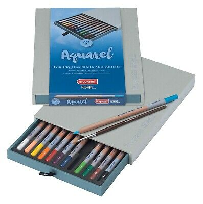 Bruynzeel Design Professional & Artist Watercolour Pencils 12 Gift Box Set