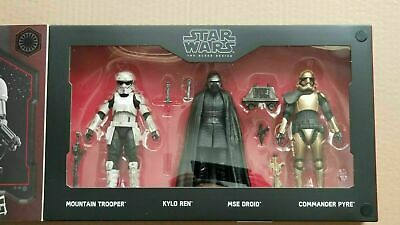 """STAR WARS GALAXYS EDGE BLACK SERIES THE FIRST ORDER 4 PACK 6"""" NEW Commander Pyre"""