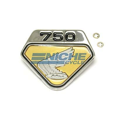 Gold Honda CB750 Right Side Cover Wing Emblem 87123-300-020G