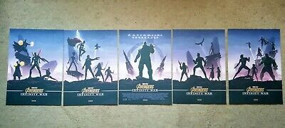 Marvel Avengers Infinity War A4 Posters Odeon Exclusive Complete Original Set