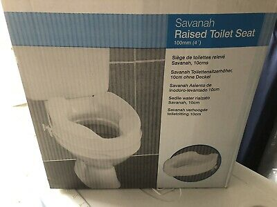 4'' (10cm) (100mm) Savanha (up to 34st) Raised Toilet Seat Raiser WITHOUT Lid